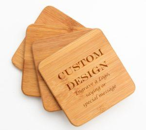 Corporate Gift Wood Custom Coasters