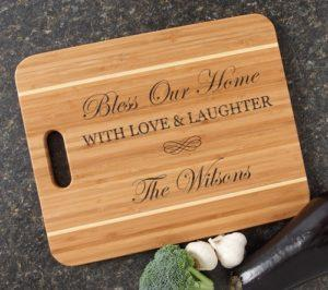 "Engraved Cutting Board Bamboo 15 x 12 Handle CBA-022 alt="" Engraved Cutting Board Bamboo 15 x 12 Handle CBA-022"""