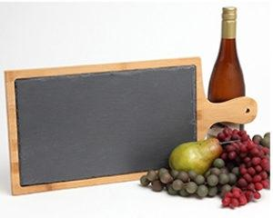 Personalized Slate and Bamboo engraved cutting board