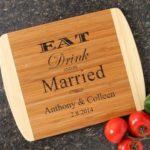 Personalized Wedding Gift Bamboo Cutting Board