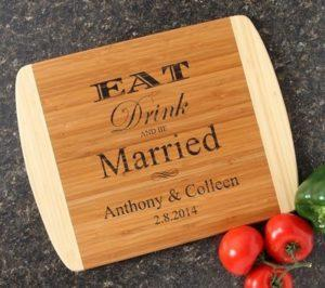 Personalized Wedding Gift Bamboo Cutting Board