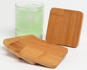 Personalized-bamboo-coaster gift set