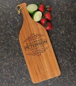 Wine Bottle Cutting Board Personalized