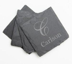 custom engraved slate coasters