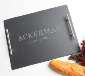 Personalized Slate Hostess Serving Tray