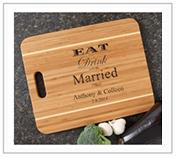 Wedding Gift Personalized Cutting Board