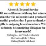 personalized wine cutting boards - testimonials