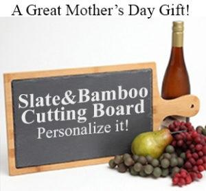 Mothers Day Gift Personalized Bamboo Slate Paddle