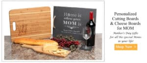 Personalized cutting boards Mother's day