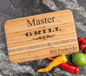 personalized cutting board with inlay