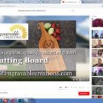 personalized cutting board videos